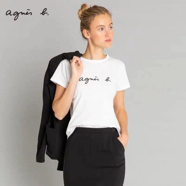 超值代購特價agnes b.字母LOGO純棉短袖T恤(售價已折) agnes b.,T恤