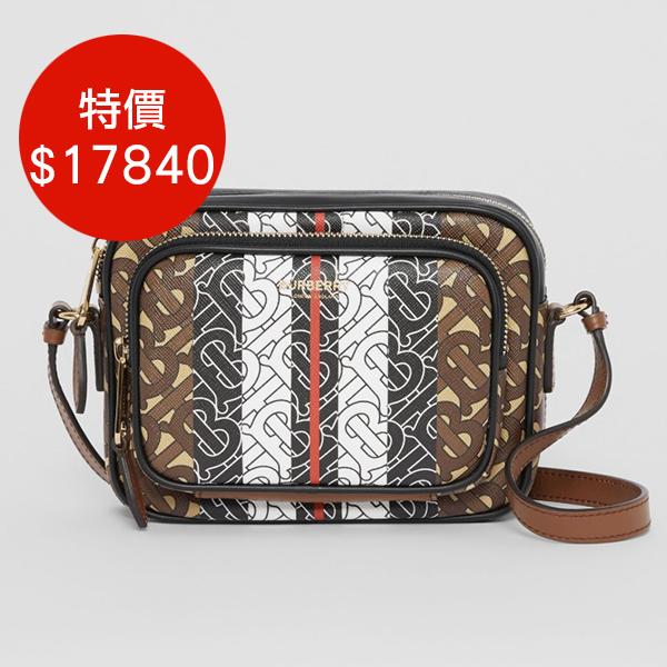日本代購-BURBERRY 個性條紋環保帆布相機包肩背包 agnes b.,東區時尚,相機包