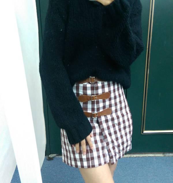 現貨-新宿街頭風俏麗時尚格紋短裙(格紋/F) 日本代購,現貨