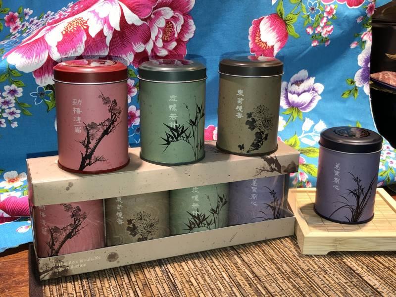 ウーロン茶セット4個入/茶葉禮盒4個入 茶葉,台湾伴手禮,烏龍茶,一番屋