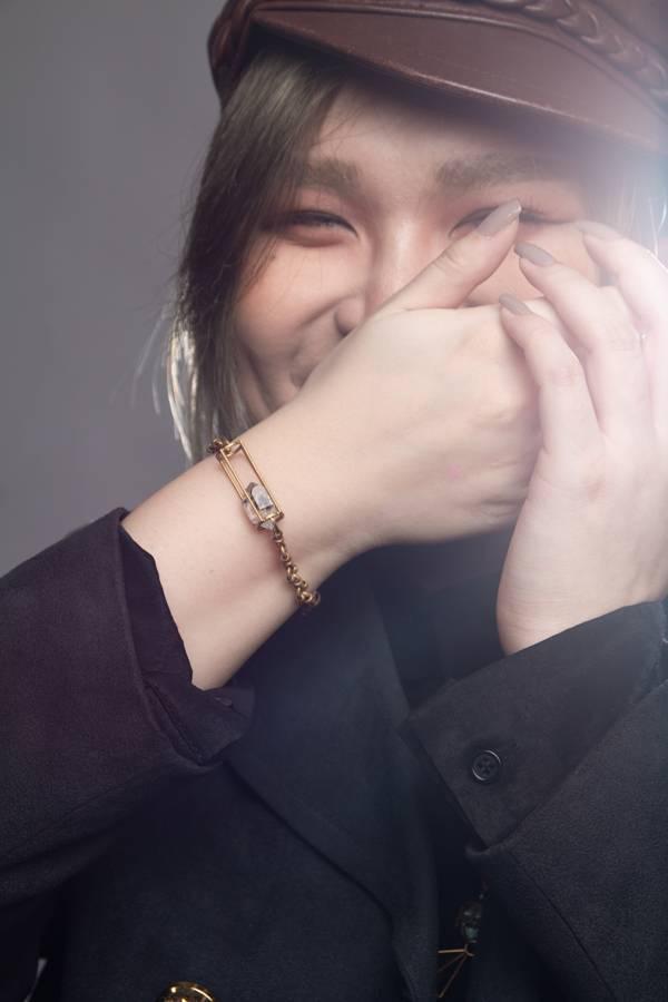 【衝撞】黃銅雙尖水晶晃動手鍊 水晶,黃銅,閃靈鑽,赫基蒙水晶,手作,飾品,原礦