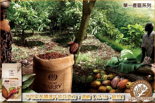 《原裝》法國可可巴芮單一產區調溫牛奶巧克力:迦納【40.5%、鈕扣】6KG《免運》 可可巴芮,Cacao Barry,牛奶巧克力