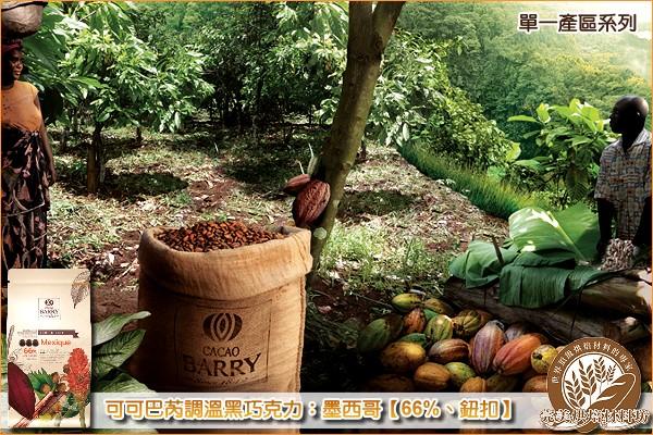 《原裝》法國可可巴芮單一產區調溫黑巧克力:墨西哥【66%、鈕扣】1000g 可可巴芮,Cacao Barry,黑巧克力,苦甜巧克力