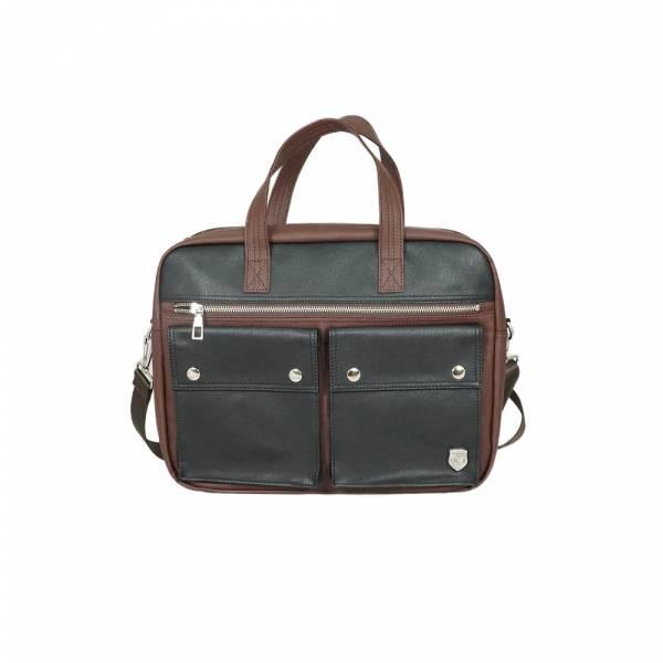 機能BI-COLOR-手提包 (深藍/咖啡) The89,男包,女包,斜肩包,後背包,腰包公事包,小包,短夾,長夾,手拿包,托特包,手提包,配件,證件夾,零錢包,名牌精品,專櫃品牌