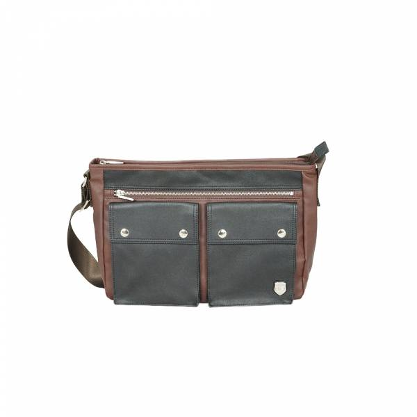 機能BI-COLOR-斜背包 (咖啡) The89,男包,女包,斜肩包,後背包,腰包公事包,小包,短夾,長夾,手拿包,托特包,手提包,配件,證件夾,零錢包,名牌精品,專櫃品牌