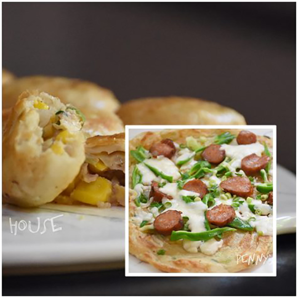 蔥抓餅披薩變化,蔥媽媽團購夯的三種抓餅與爆汁玉米豬肉餡餅  台灣小吃,蔥媽媽.抓餅,餡餅