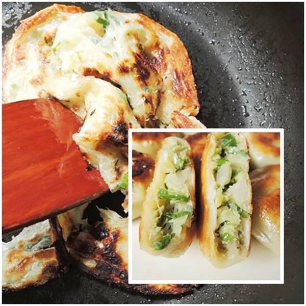 蔥媽媽美食生活館 香蔥豬肉餡餅 菠菜翡翠抓餅 菠菜翡翠抓餅 在家簡單變身麵點大廚!