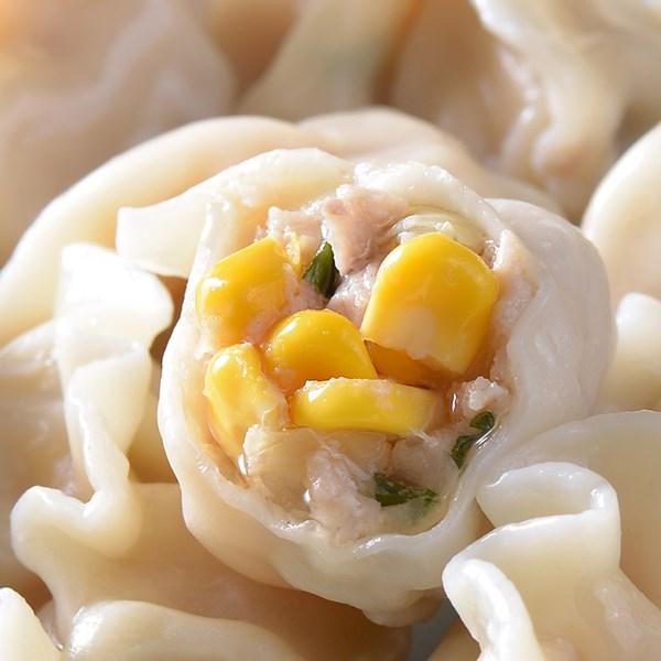 玉米豬肉水餃(1000g/約50顆) 手工玉米豬肉水餃,水餃製作,玉米水餃餡料,蔥媽媽