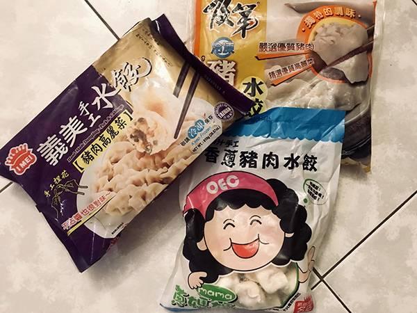 賣場冷凍豬肉水餃評比 居家常備品,蔥媽媽,優良美食