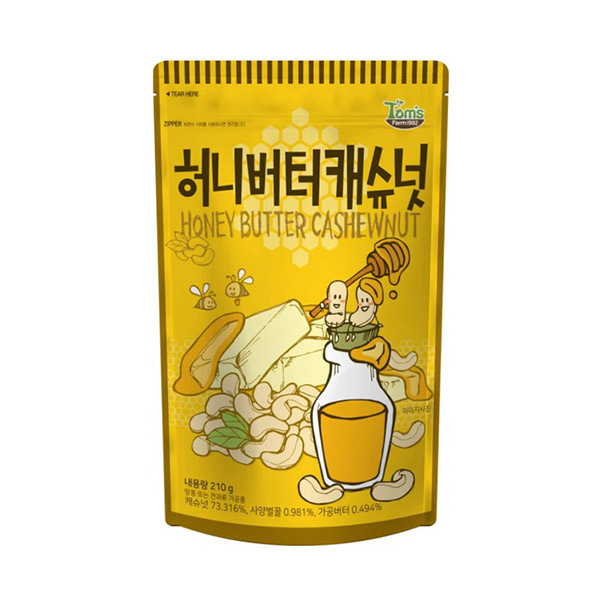 Tom's Gilim 杏仁果(蜂蜜奶油味) 210g