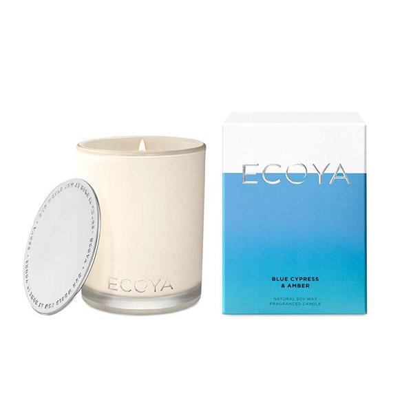 Ecoya 藍柏琥珀 高雅香氛精油蠟燭  400g