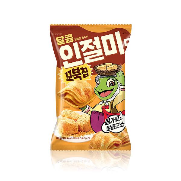 好麗友 烏龜餅乾(烤麻糬) 80g 韓國進口,烏龜餅乾,玉米濃湯,四層,酥脆餅乾,餅乾,零食,COSTCO零食