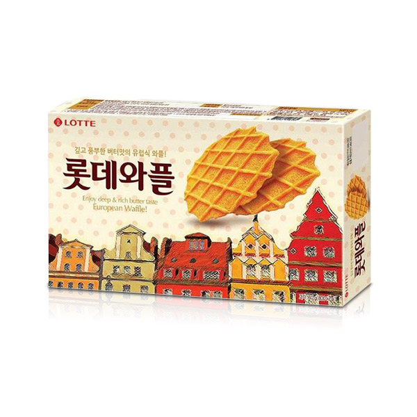 韓國樂天 鬆餅餅乾 160g