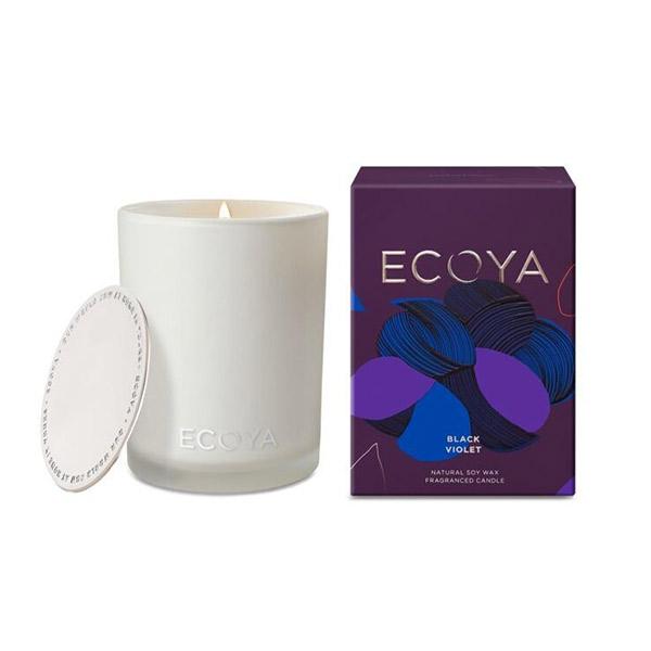 Ecoya 黑色紫羅蘭香 高雅香氛精油蠟燭 400g