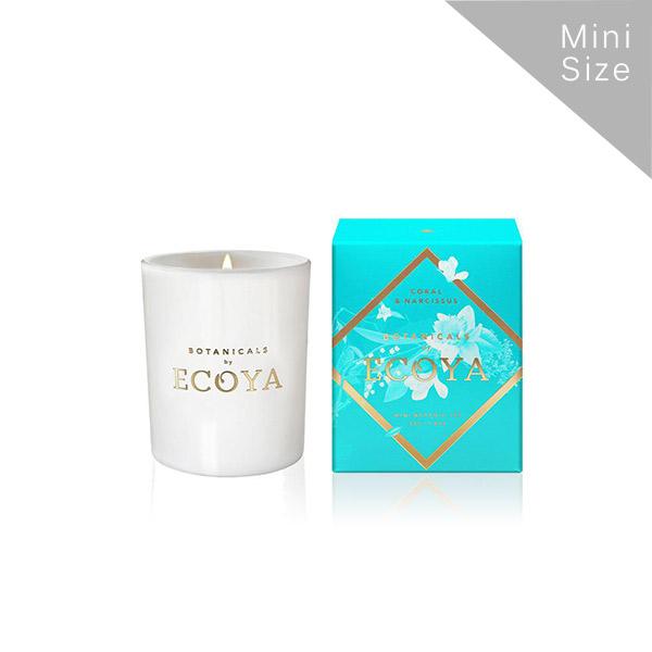 Ecoya Botanical珊瑚水仙 迷你高雅香氛精油蠟燭 50g