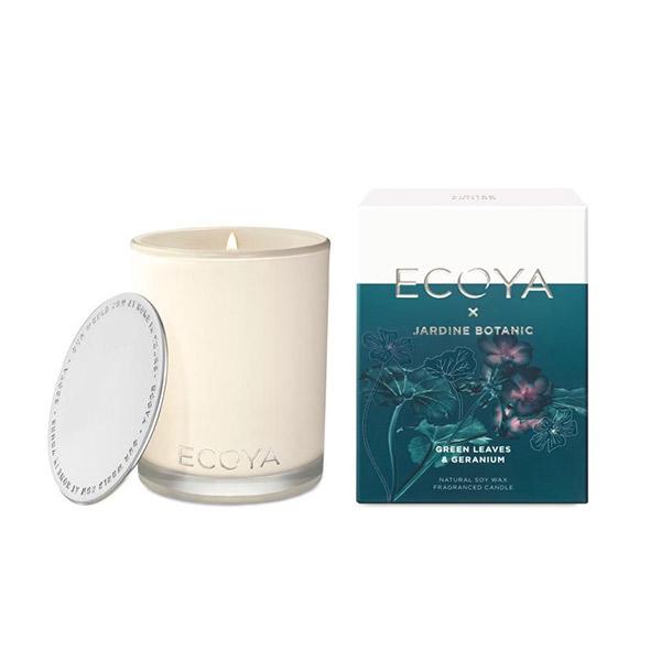 Ecoya 綠葉天竺葵 高雅香氛精油蠟燭 400g