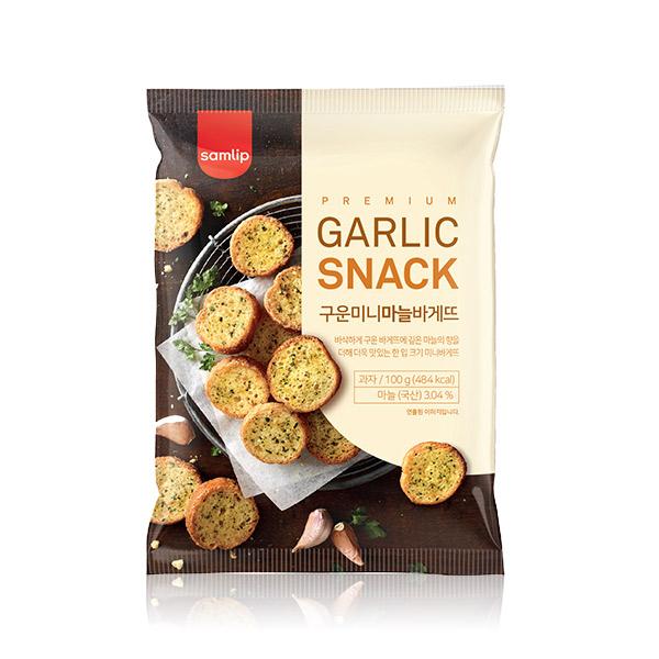 Samlip大蒜麵包餅乾100g 韓國進口,大蒜餅乾,蒜香,大蒜麵包,酥脆,餅乾,零食,熱門團購零食