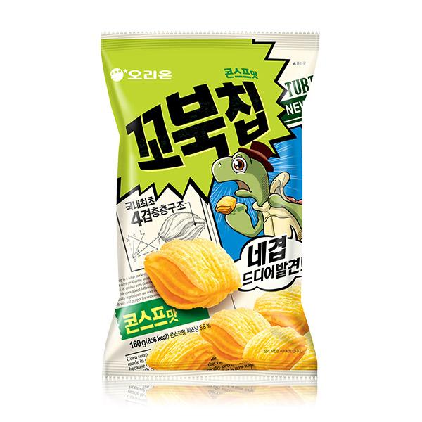 好麗友 烏龜餅乾家庭號(玉米濃湯) 韓國進口,烏龜餅乾,玉米濃湯,四層,酥脆餅乾,餅乾,零食,COSTCO零食