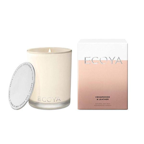 Ecoya 雪松皮革 高雅香氛精油蠟燭  400g