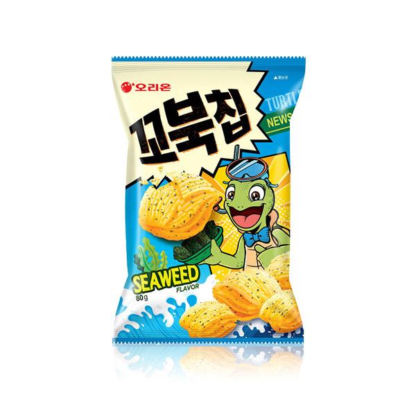 好麗友 烏龜餅乾(海苔) 80g 韓國進口,烏龜餅乾,四層,酥脆餅乾,餅乾,零食,
