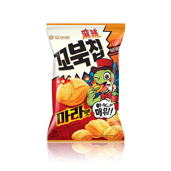 好麗友 烏龜餅乾(麻辣味) 80g 韓國進口,烏龜餅乾,玉米濃湯,四層,酥脆餅乾,餅乾,零食,COSTCO零食