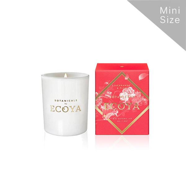 Ecoya Botanical梅藍花楹 迷你高雅香氛精油蠟燭 50g