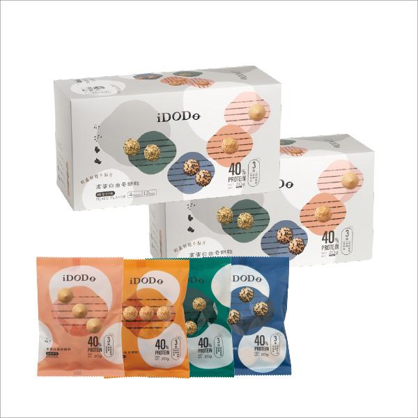 iDODO高蛋白曲奇餅乾-八分音符2盒組(12入*2)