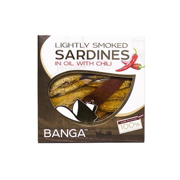 Banga油漬煙燻沙丁魚罐頭(辣味)