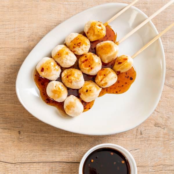 韓式拌醬花枝丸 花枝丸,韓式,料理,食譜