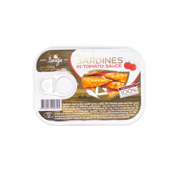 Banga茄汁沙丁魚罐頭