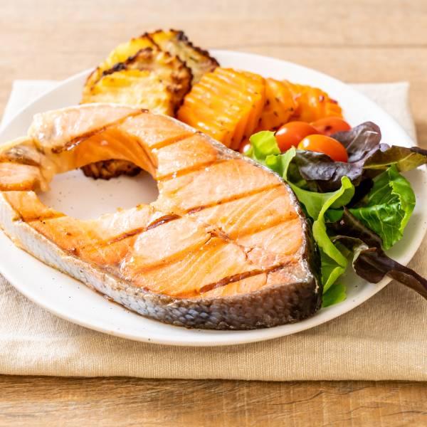 鮮蔬烤鮭魚 鮭魚,鱒鮭,挪威,SGS無毒海鮮,料理,食譜,健身,低卡高蛋白