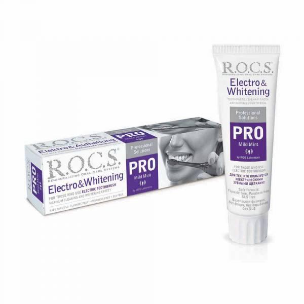 R.O.C.S 電動牙刷專用牙膏 100ml135g 美白牙膏,俄羅斯進口,原裝進口 牙膏,ROCS 牙膏,美白牙膏 推薦,天然精油 牙膏,不含氟,天然牙膏 美白,電動牙刷,電動牙刷專用,