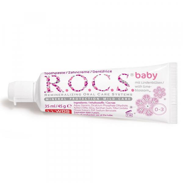 R.O.C.S 不含氟 0-3歲嬰兒牙膏萊姆 35ml/45g 兒童牙膏,俄羅斯進口,原裝進口 牙膏,ROCS 牙膏,兒童牙膏 推薦,天然精油 牙膏,不含氟,天然牙膏 兒童