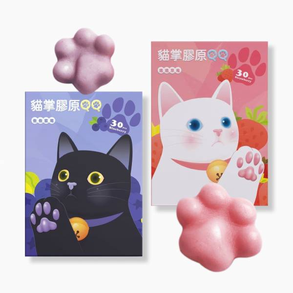 貓掌膠原QQ(30顆/盒)【紓壓養顏】 貓掌膠原QQ,美原萃LICAL,貓掌膠原