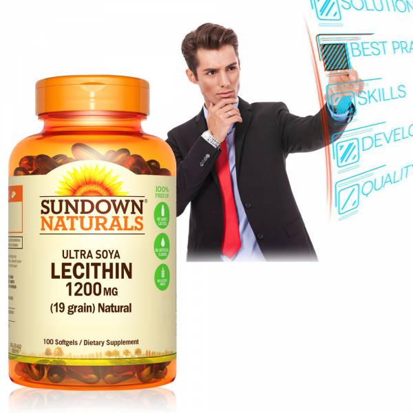 Sundown日落恩賜 頂級61%卵磷脂膠囊(100粒/瓶) 卵磷脂,哺乳,磷脂質,腦神經系統