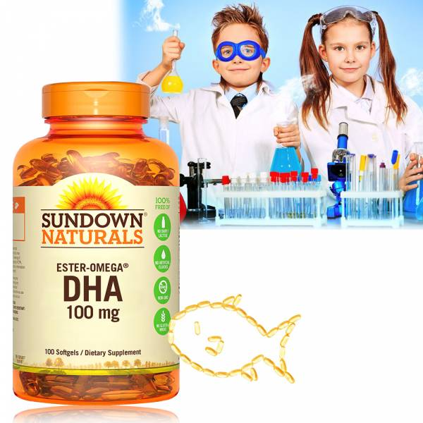 Sundown日落恩賜 兒童精明鮪魚油DHA軟膠囊(100粒/瓶)_效期至2020/4/30 魚油,DHA,鮪魚,兒童DHA,青少年DHA,孕婦魚油