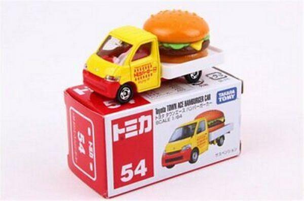 豐田漢堡車/TOMICA 054-1多美 火柴盒小汽車 豐田漢堡車/TOMICA 054-1多美 火柴盒小汽車 4904810467472  漢堡小貨車
