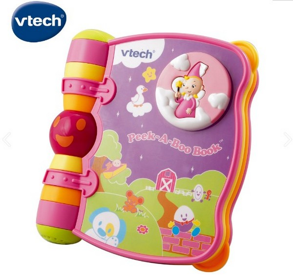 粉-Vtech音樂探索翻翻書 50803608132,粉-Vtech音樂探索翻翻書,0-3歲幼兒啟蒙,電動碰轉玩具
