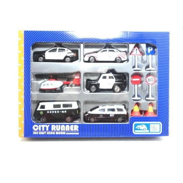 六入警用車(警備車) CT-12816P 六入警用車(警備車) CT-12816P,精緻模型合金車