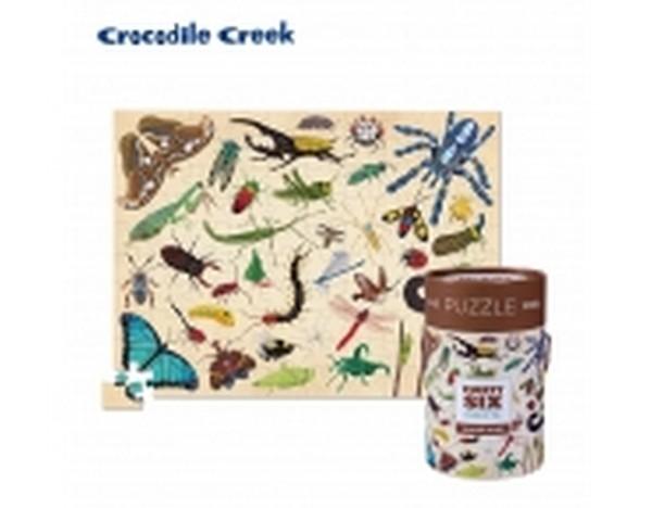 美國Crocodile Creek 生物主題學習桶裝拼圖-昆蟲世界/40546 Vtech,幼教,發展玩具,早教