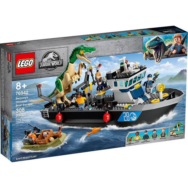 Jurassic-重爪龍快艇逃脫/樂高積木 LEGO 76942 LEGO,LEGO76942,76942,Jurassic,侏羅紀,Baryonyx,重爪龍