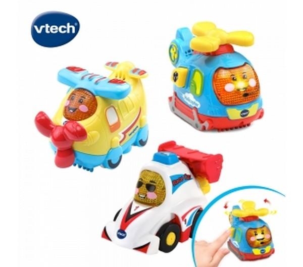 Vtech 嘟嘟聲光互動車-飛機賽車組/242183 Vtech,幼教,發展玩具,早教