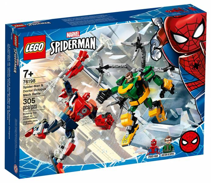 DC-蜘蛛俠與章魚博士的機甲之戰/L76198 樂高積木,DC-蜘蛛俠與章魚博士的機甲之戰,LEGO76198