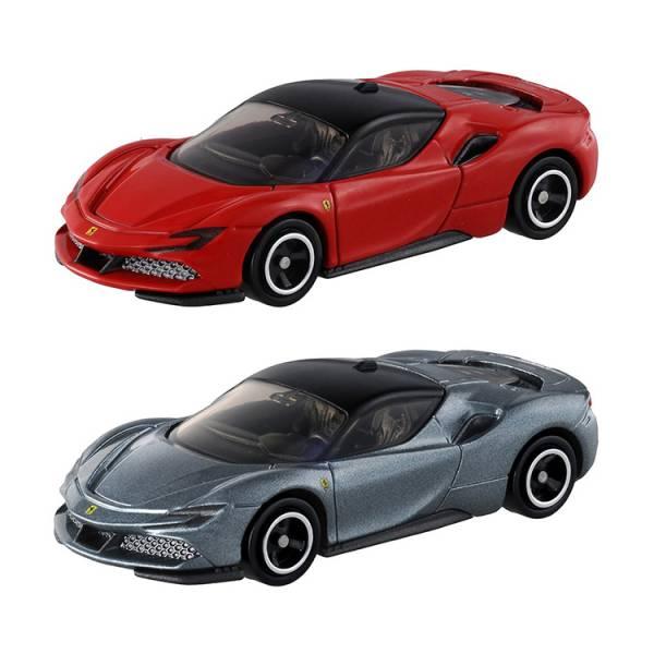 @日版 法拉利SF90 Stradale ,TM120/15676 多美小汽車 日版 法拉利SF90 Stradale初回銀,紅 ,TM120,多美小汽車