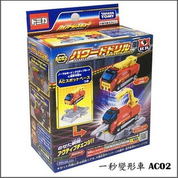 AC02 一秒變形車-工作車/TM39977 4904810399773,AC02 一秒變形車,工作車,TM39977,TOMICA代理版小車