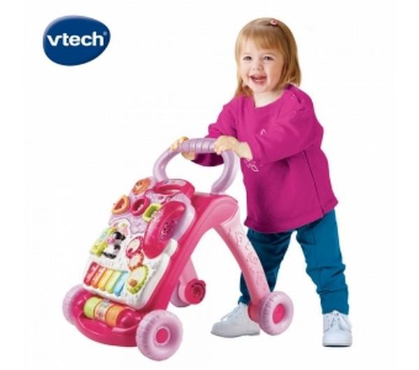 Vtech寶寶聲光學步車(美)-粉/77050 Vtech,幼教,發展玩具,早教