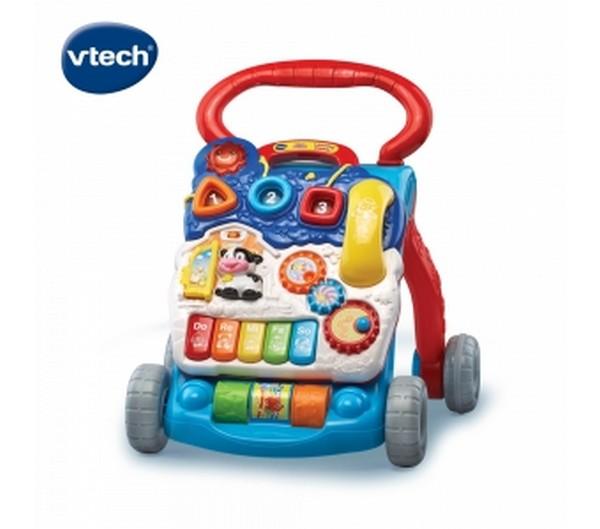 Vtech寶寶聲光學步車(美)-紳士藍/77060 Vtech,幼教,發展玩具,早教
