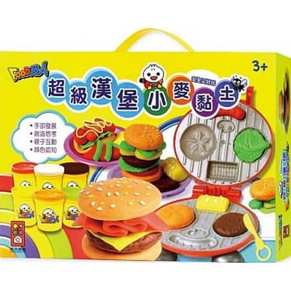 超級漢堡小麥黏土-FOOD超人 Food超人,包子,水餃,燒餅,粽子,蒼蠅