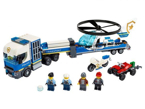 City-警察直升機運輸車/L60244/樂高積木