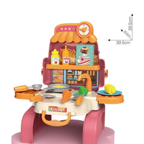 3合1餐具背包(粉)8111AP/95006109 3合1餐具背包(粉)8111AP,95006109,家家酒妝扮玩具